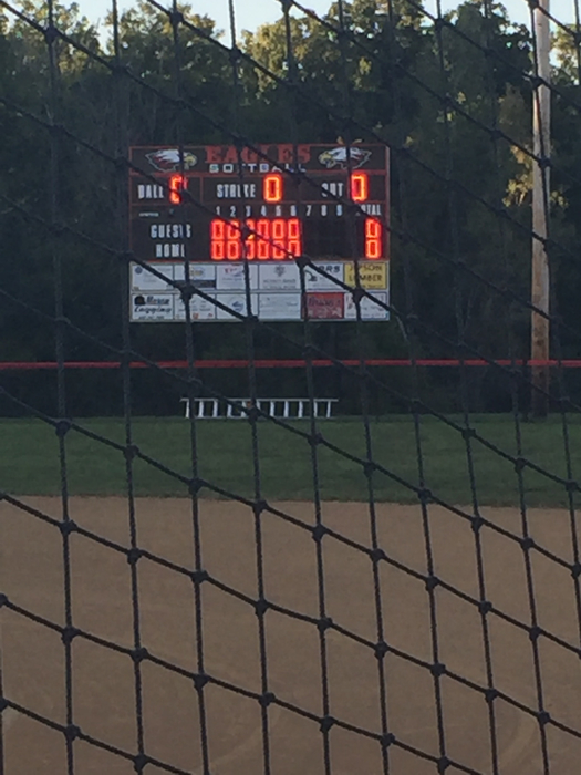 Knox County Eagles scoreboard.