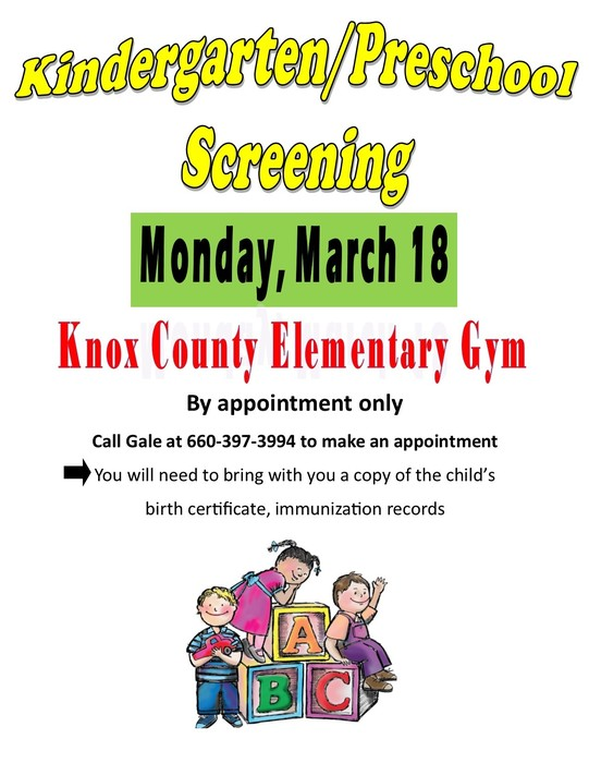 Preschool screening flyer