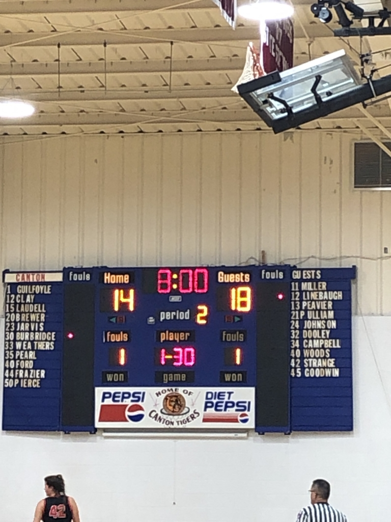 Lady Eagles lead at the end of the first quarter.
